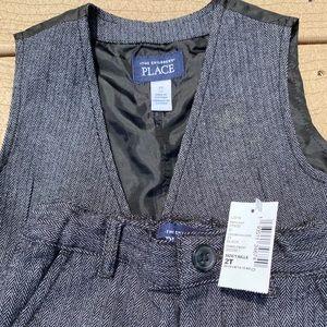 Children's place toddler boy set vest and pant